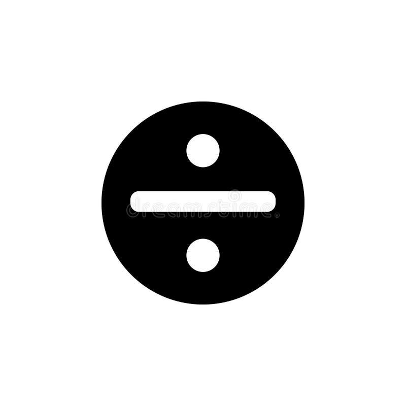 símbolo de la división en un icono del círculo Elemento del icono del web para los apps móviles del concepto y del web Símbolo ai ilustración del vector