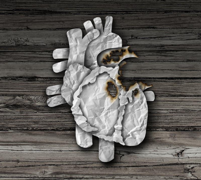 Símbolo de la enfermedad cardíaca stock de ilustración