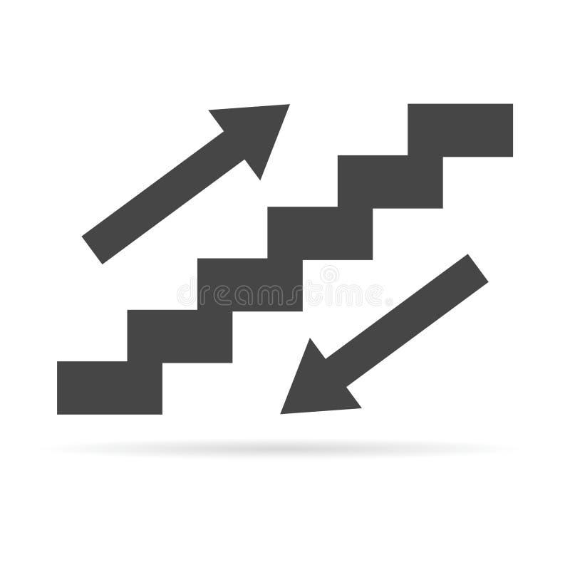 Símbolo de la escalera ilustración del vector
