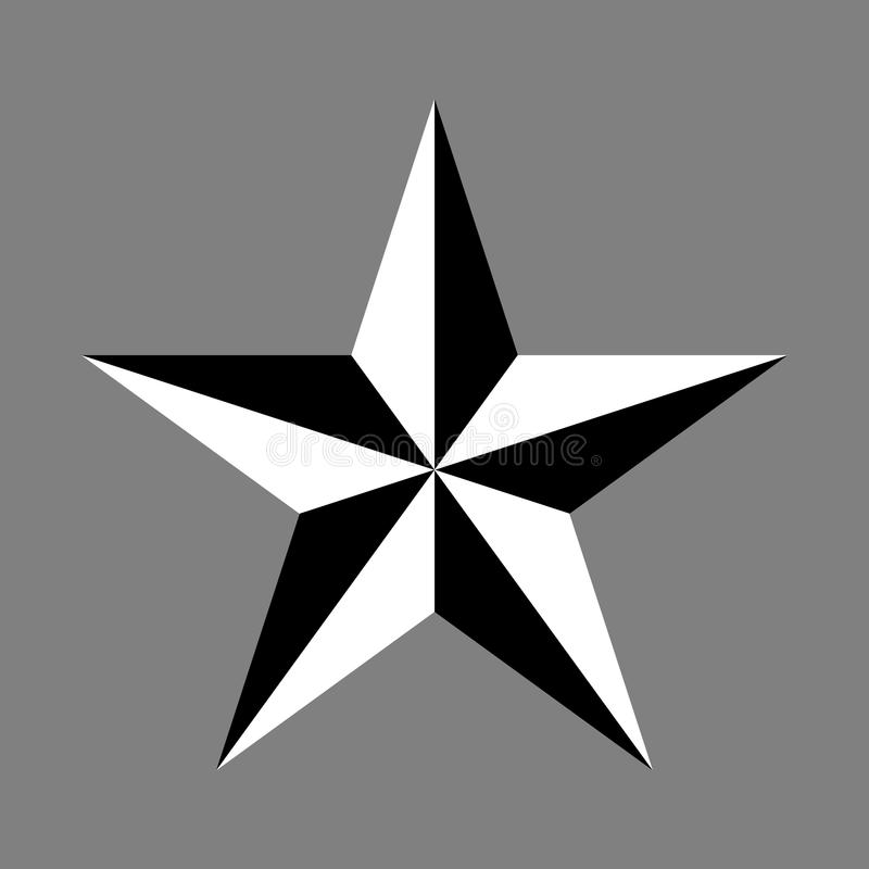 Símbolo de la estrella stock de ilustración