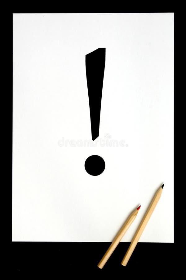 Símbolo de la exclamación fotografía de archivo