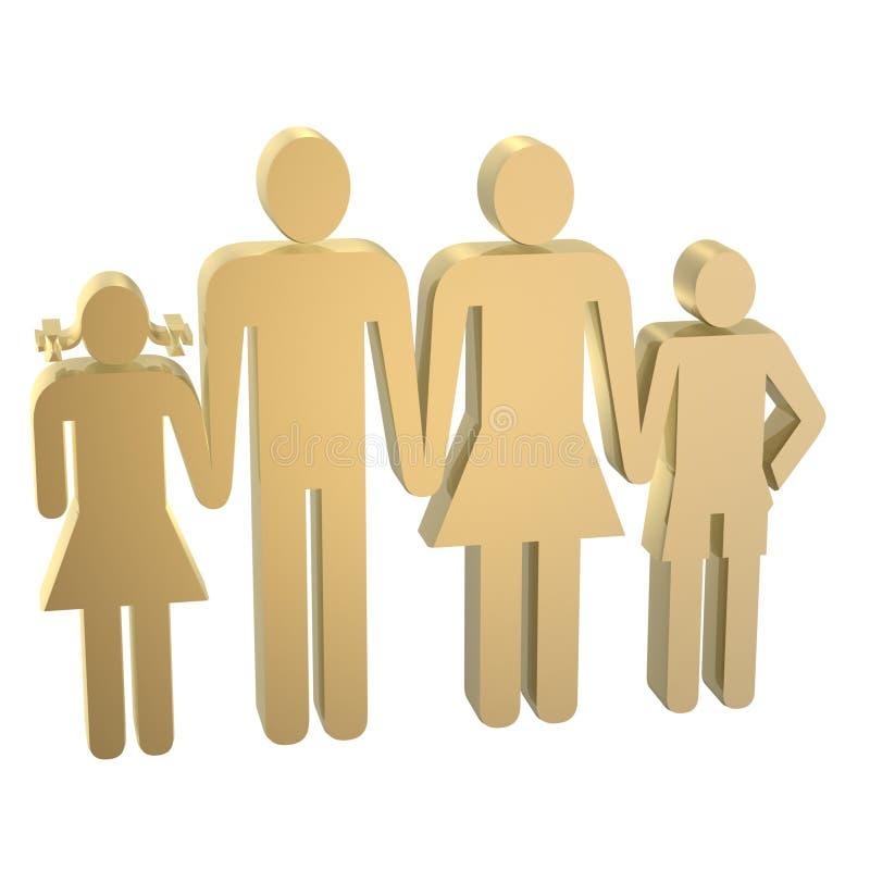 Símbolo de la familia stock de ilustración