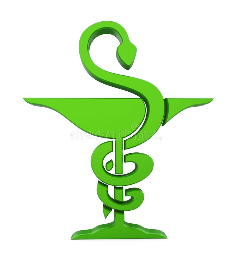 Símbolo de la farmacia aislado stock de ilustración