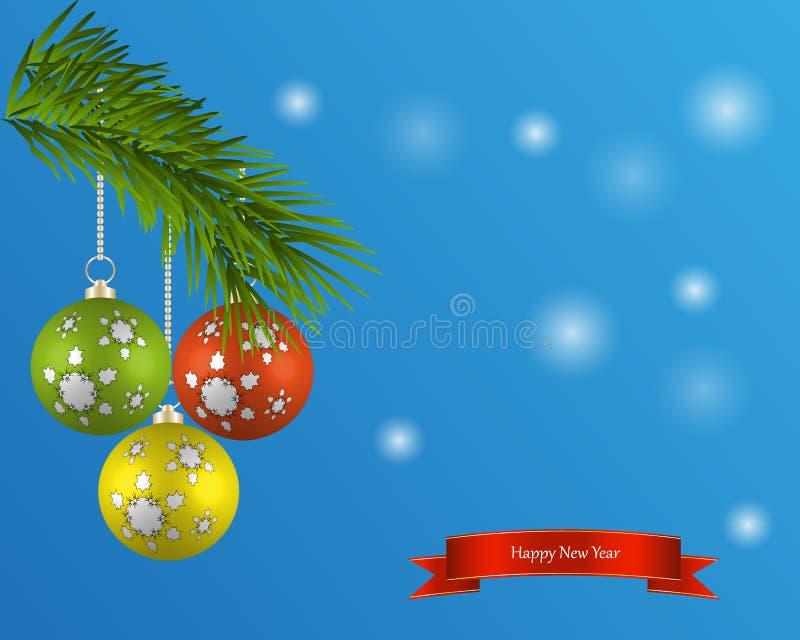 Símbolo de la Feliz Año Nuevo, celebración del día de fiesta de Navidad, invierno Diseño plano para la tarjeta Ilustración del ve libre illustration