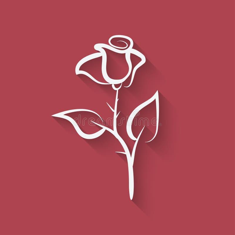 Símbolo de la flor de Rose stock de ilustración