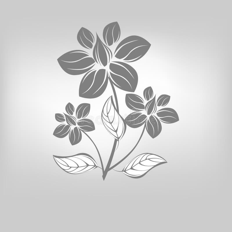 Símbolo de la flor del icono del vector ilustración del vector