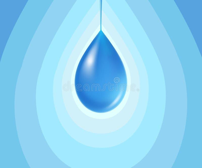 Símbolo de la gota del agua ilustración del vector