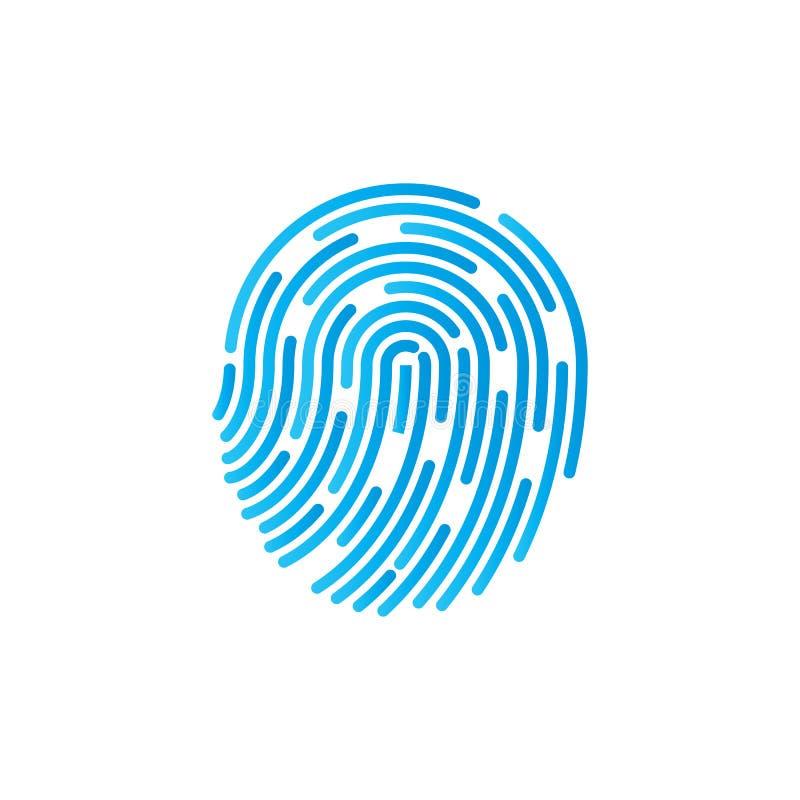 Símbolo de la identificación Icono de la huella dactilar Graphhics del vector Diseño plano ilustración del vector