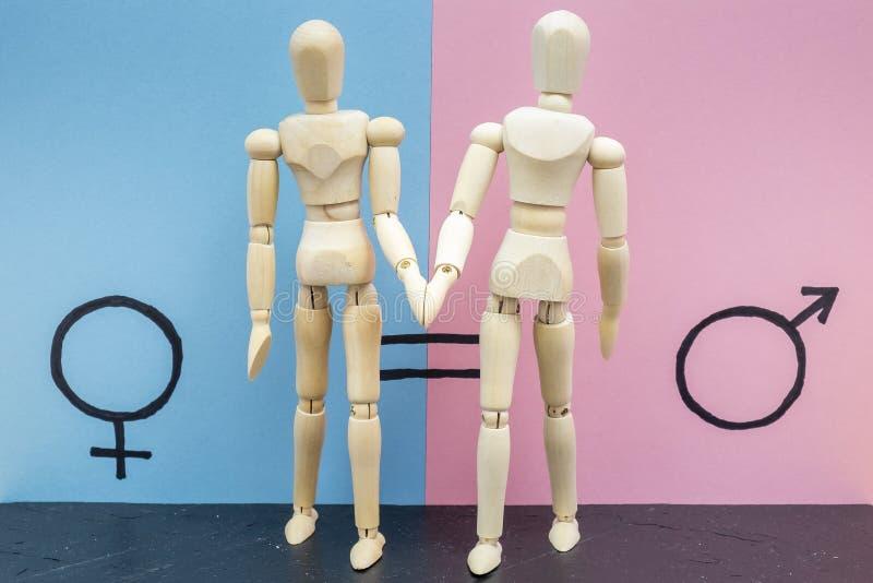 Símbolo de la igualdad de género foto de archivo