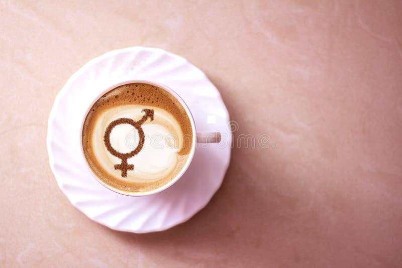 Símbolo de la igualdad de género imagenes de archivo