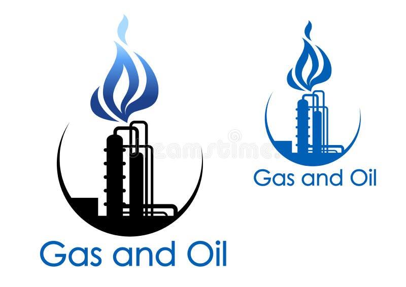 Símbolo de la industria del gas y de petróleo stock de ilustración