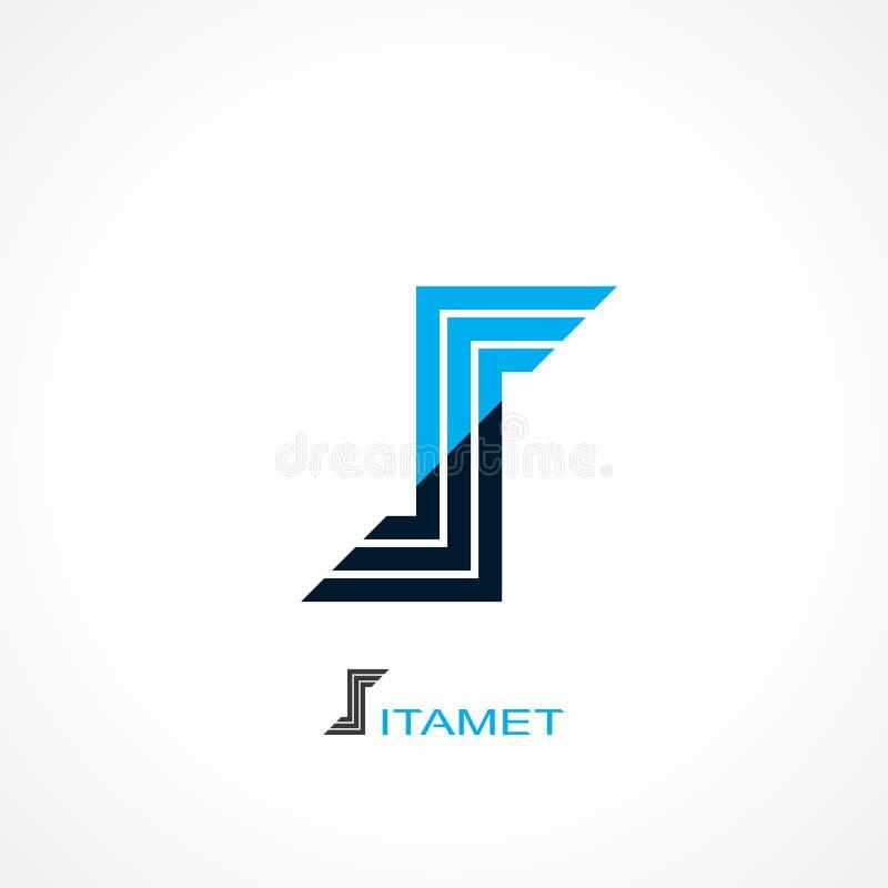 Símbolo de la letra s ilustración del vector