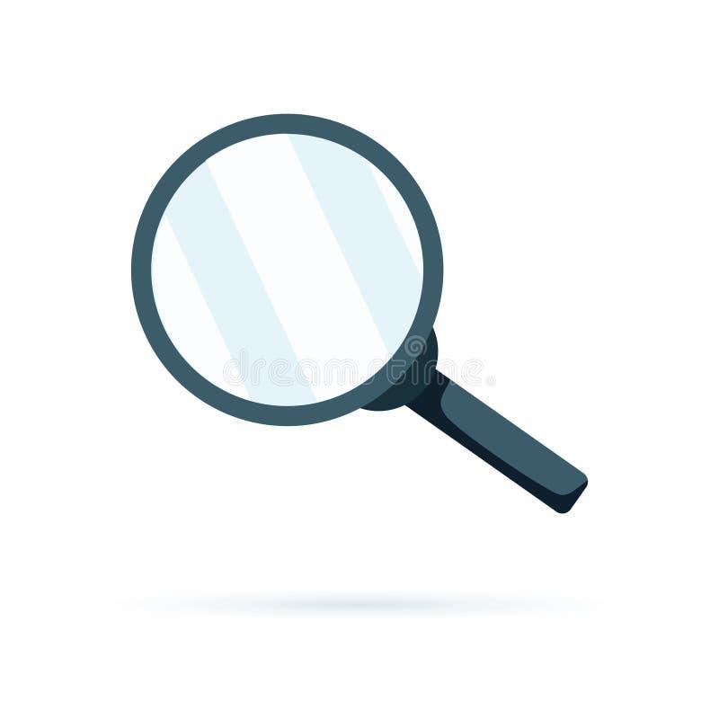Símbolo de la lupa, icono del hallazgo Botón de la búsqueda, sym de la lupa ilustración del vector