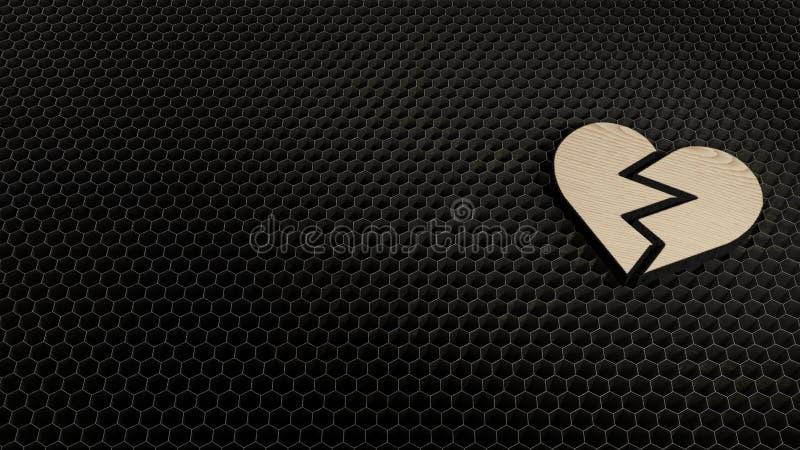 símbolo de la madera contrachapada del corte del laser de la aversión 1 fotografía de archivo libre de regalías