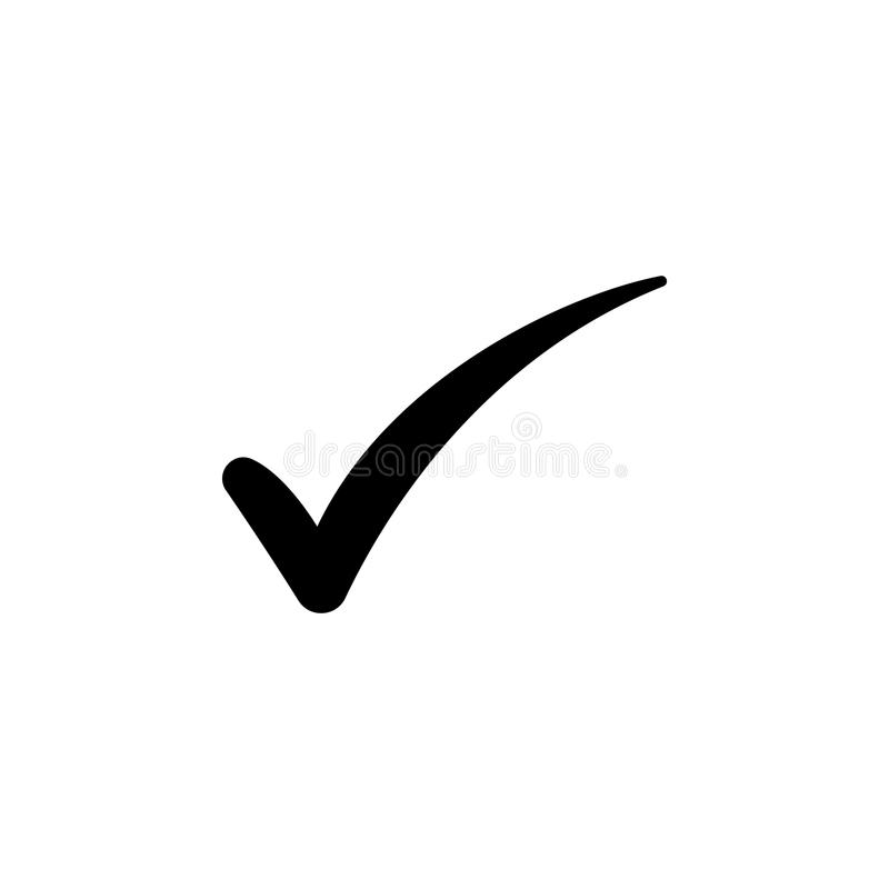 Símbolo de la marca de verificación, vector stock de ilustración