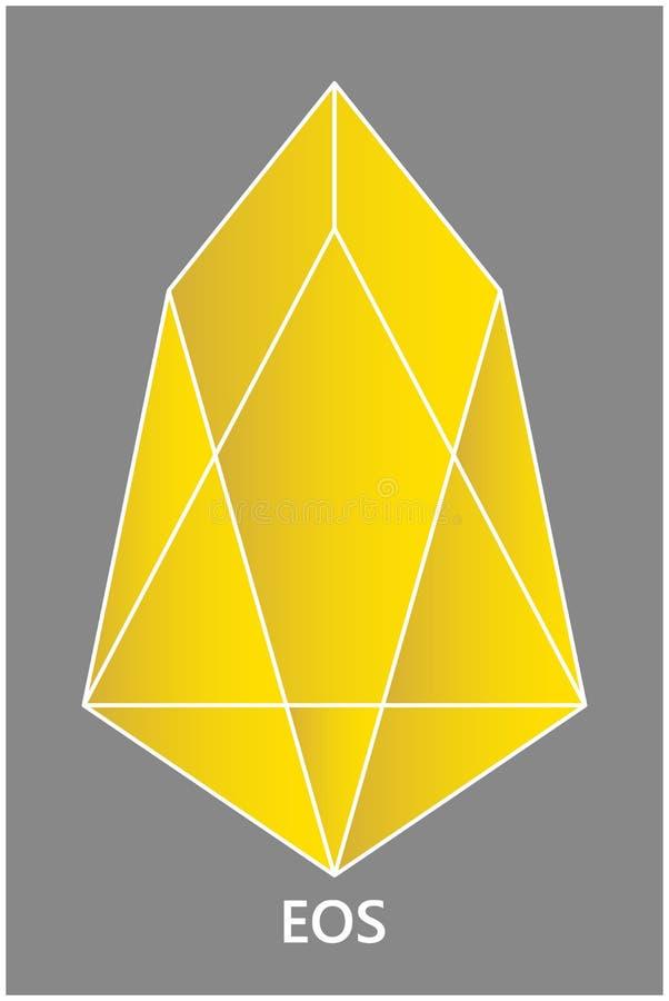 Símbolo de la moneda crypto del FOE del color oro en un fondo gris stock de ilustración