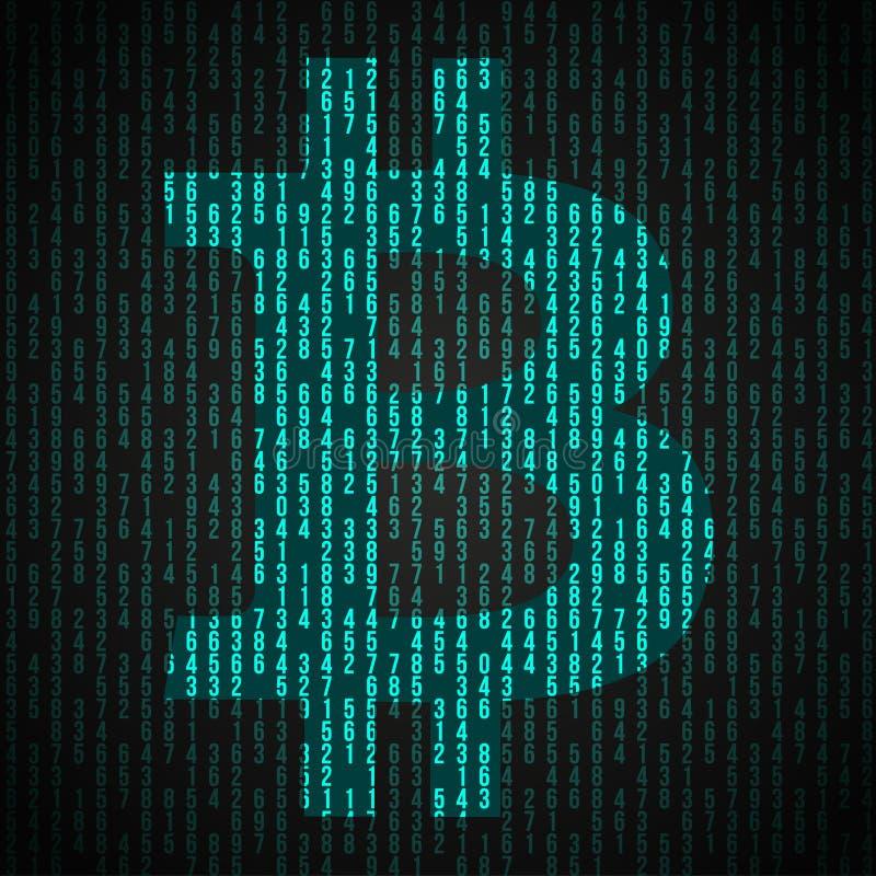 Símbolo de la moneda financiera Bitcoin ilustración del vector