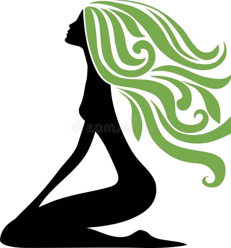 Símbolo de la muchacha ilustración del vector
