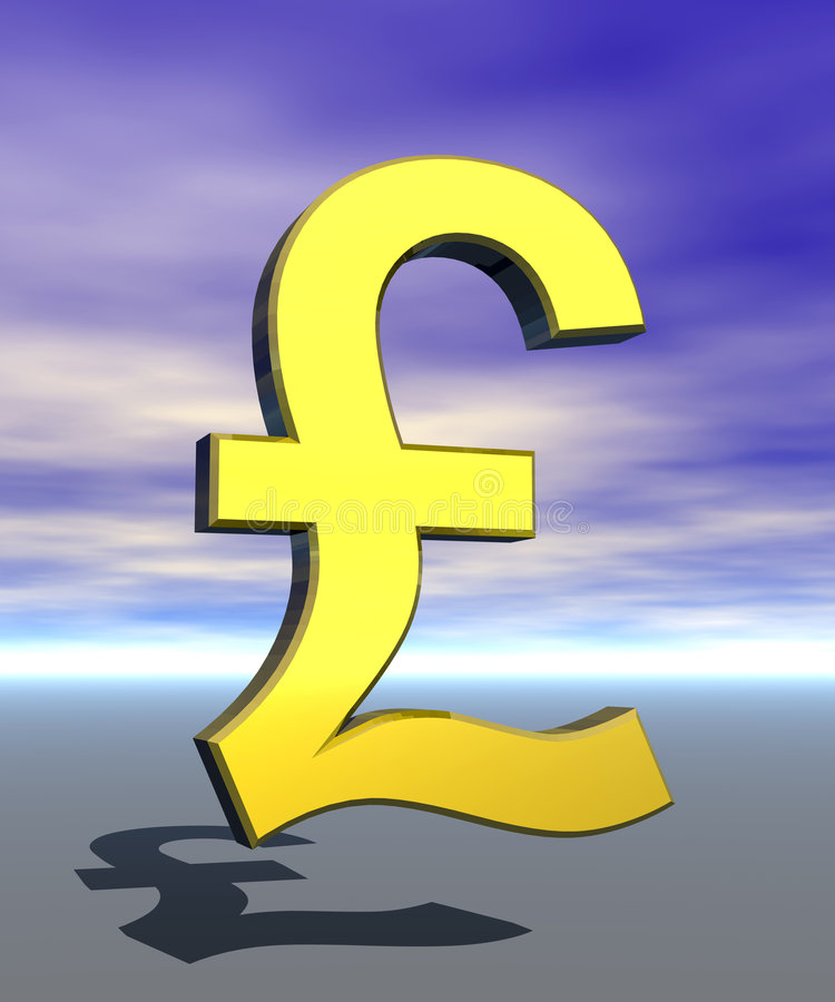 Símbolo de la muestra de la libra stock de ilustración