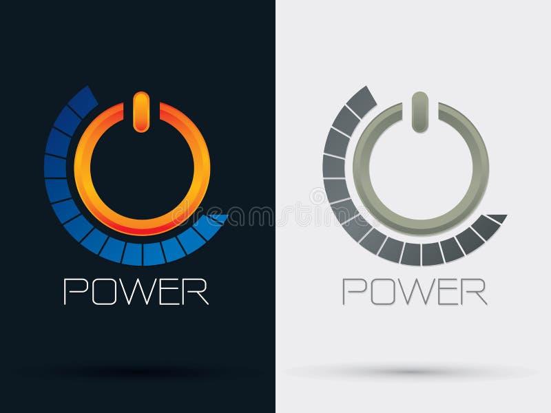 Símbolo de la muestra del botón de encendido stock de ilustración