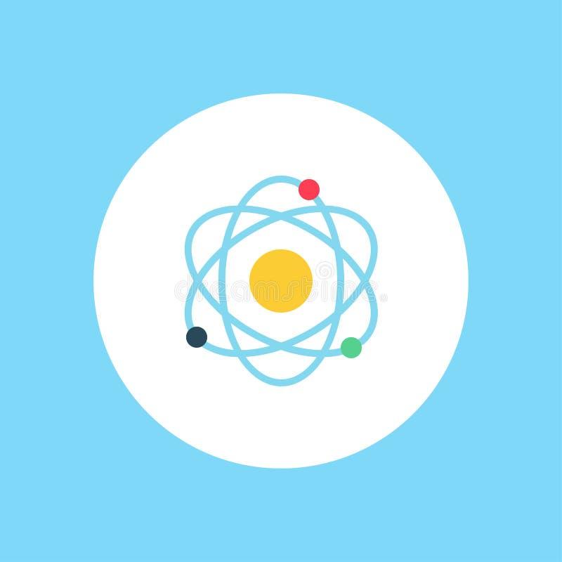 Símbolo de la muestra del icono del vector del átomo ilustración del vector