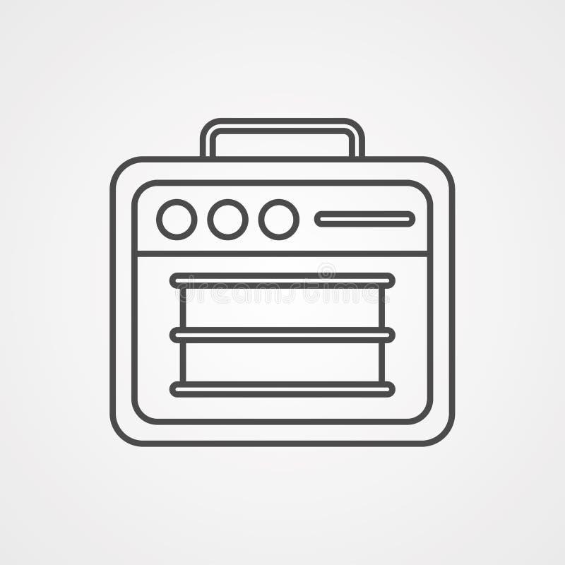 Símbolo de la muestra del icono del vector del amplificador stock de ilustración