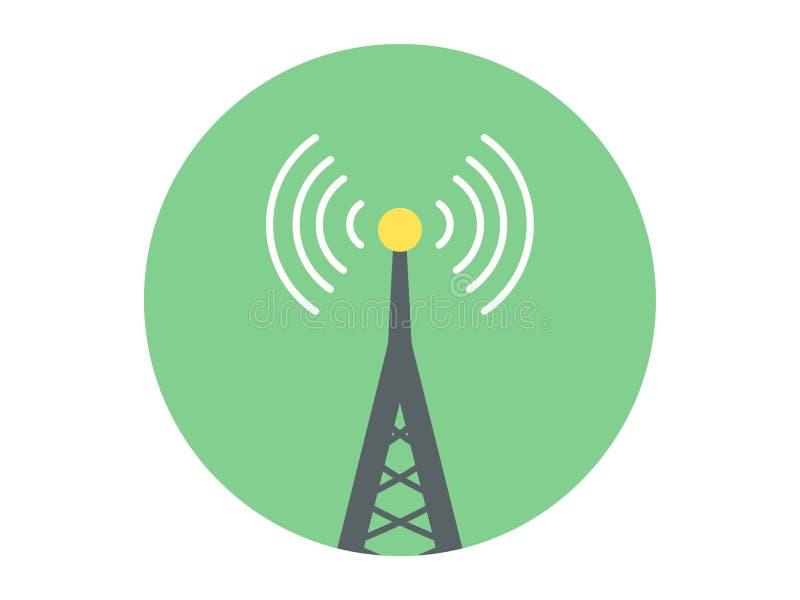 Símbolo de la muestra del icono del vector de la antena libre illustration