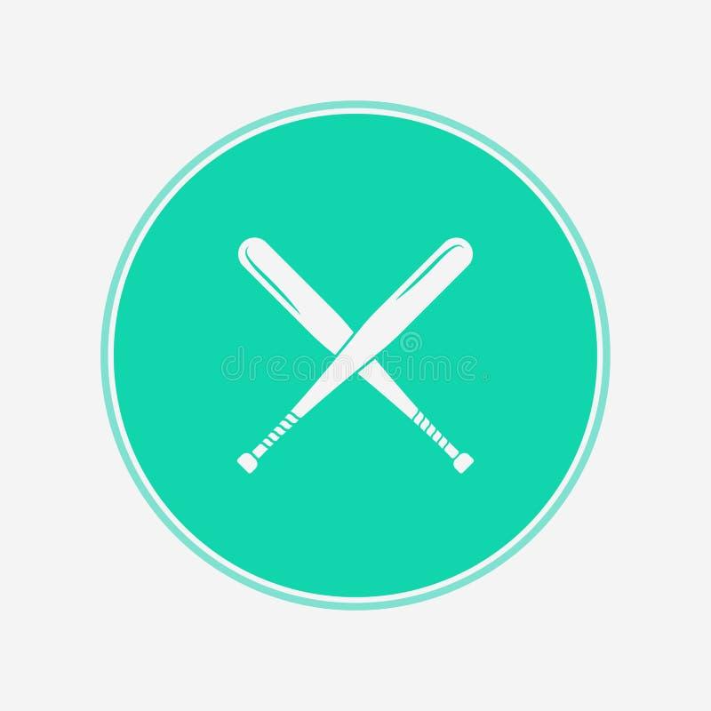 Símbolo de la muestra del icono del vector del bate de béisbol libre illustration