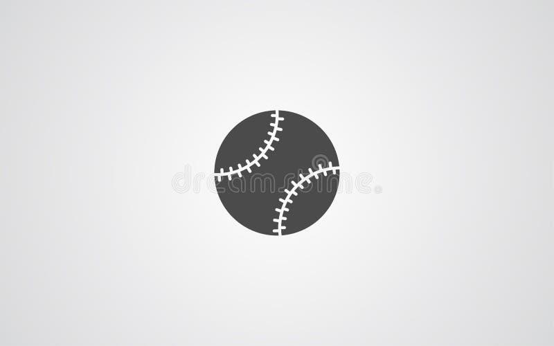 Símbolo de la muestra del icono del vector del bate de béisbol ilustración del vector