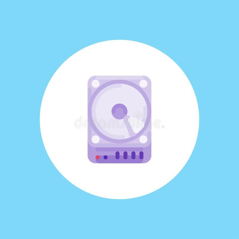 Símbolo de la muestra del icono del vector del disco duro libre illustration