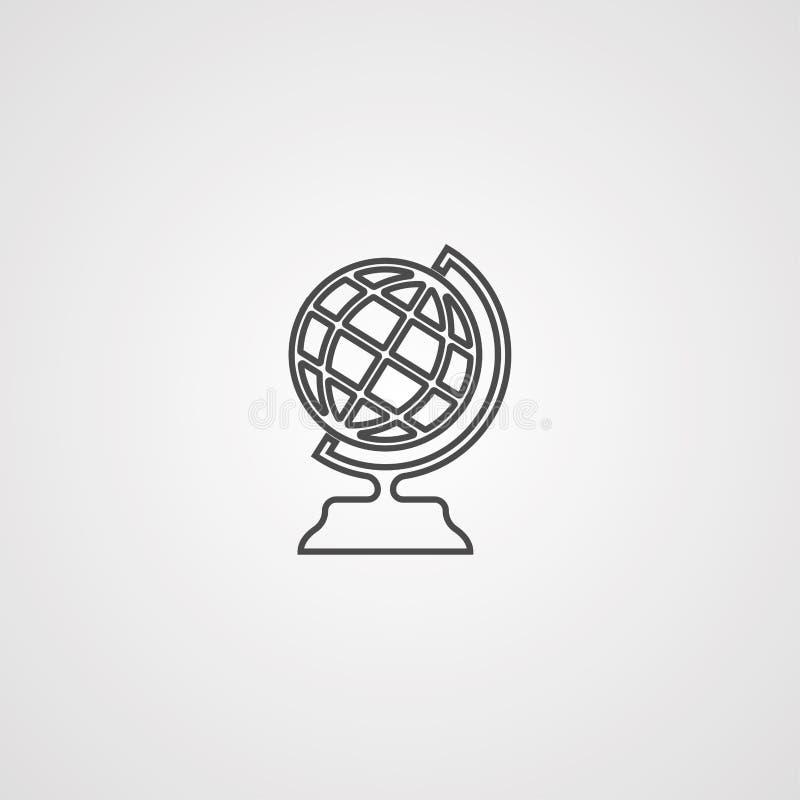 Símbolo de la muestra del icono del vector del globo de la tierra stock de ilustración