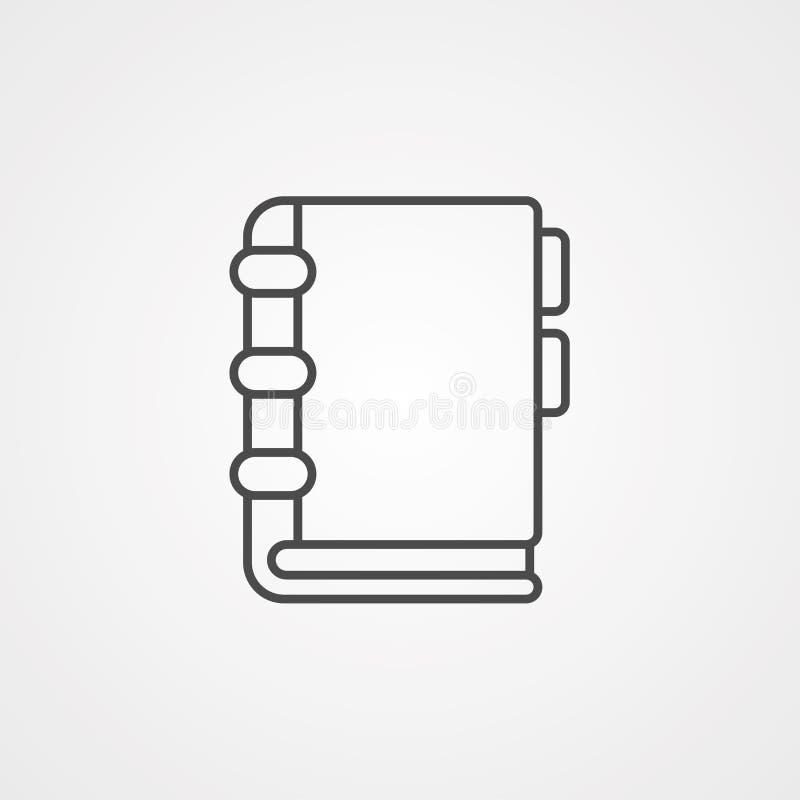 Símbolo de la muestra del icono del vector del orden del día libre illustration
