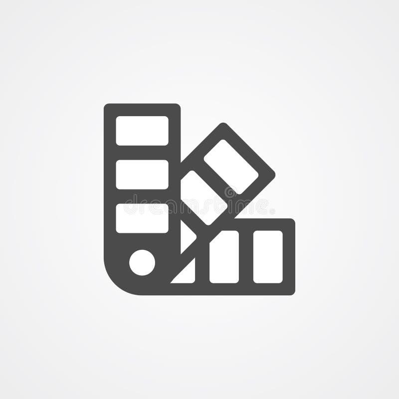 Símbolo de la muestra del icono del vector de Pantone stock de ilustración