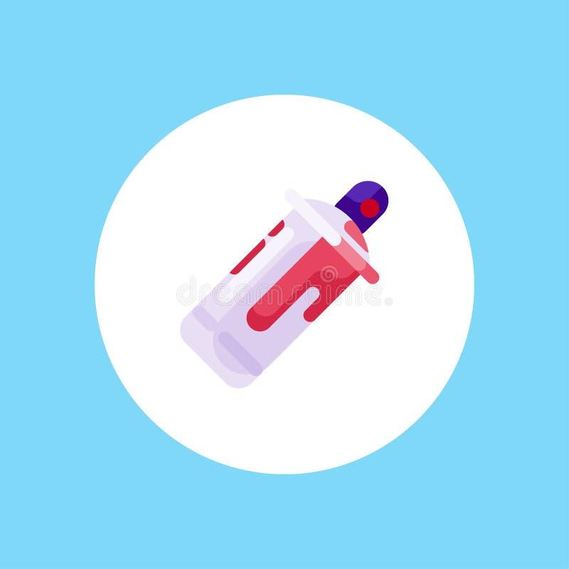 Símbolo de la muestra del icono del vector de la pintura de espray stock de ilustración