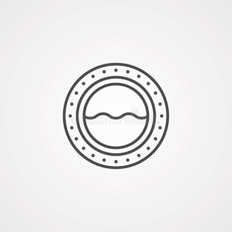 Símbolo de la muestra del icono del vector de la porta libre illustration