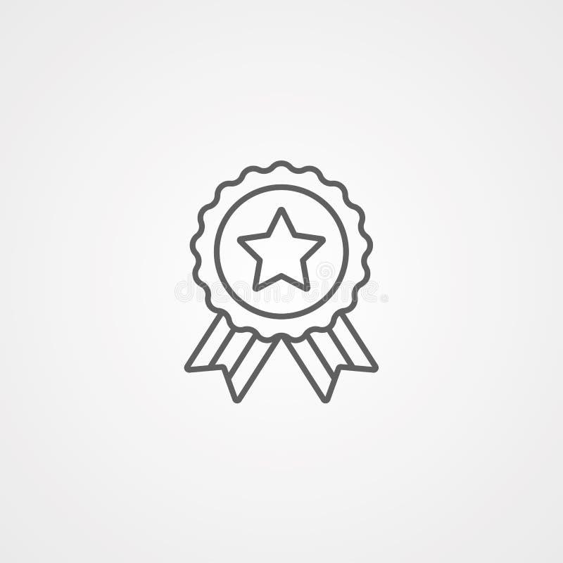 Símbolo de la muestra del icono del vector del premio libre illustration