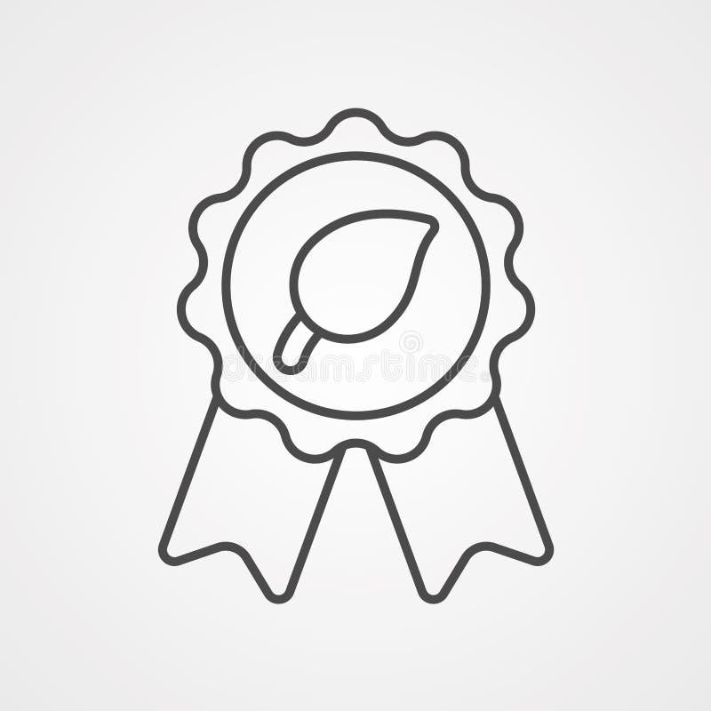 Símbolo de la muestra del icono del vector del premio stock de ilustración