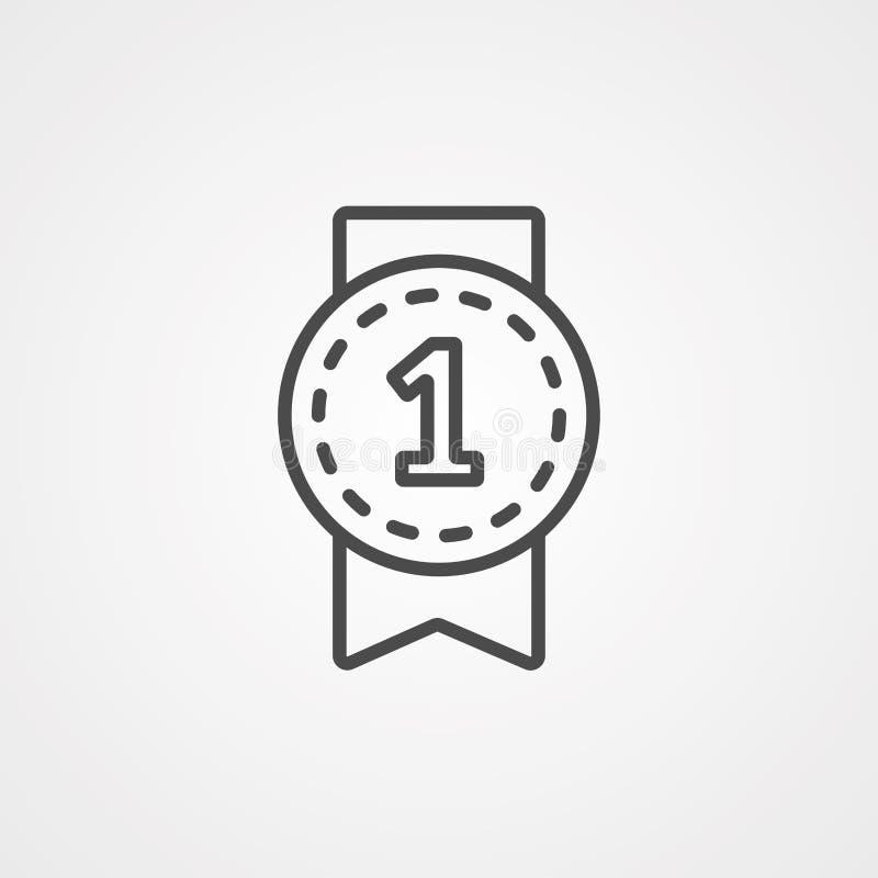 Símbolo de la muestra del icono del vector del premio ilustración del vector