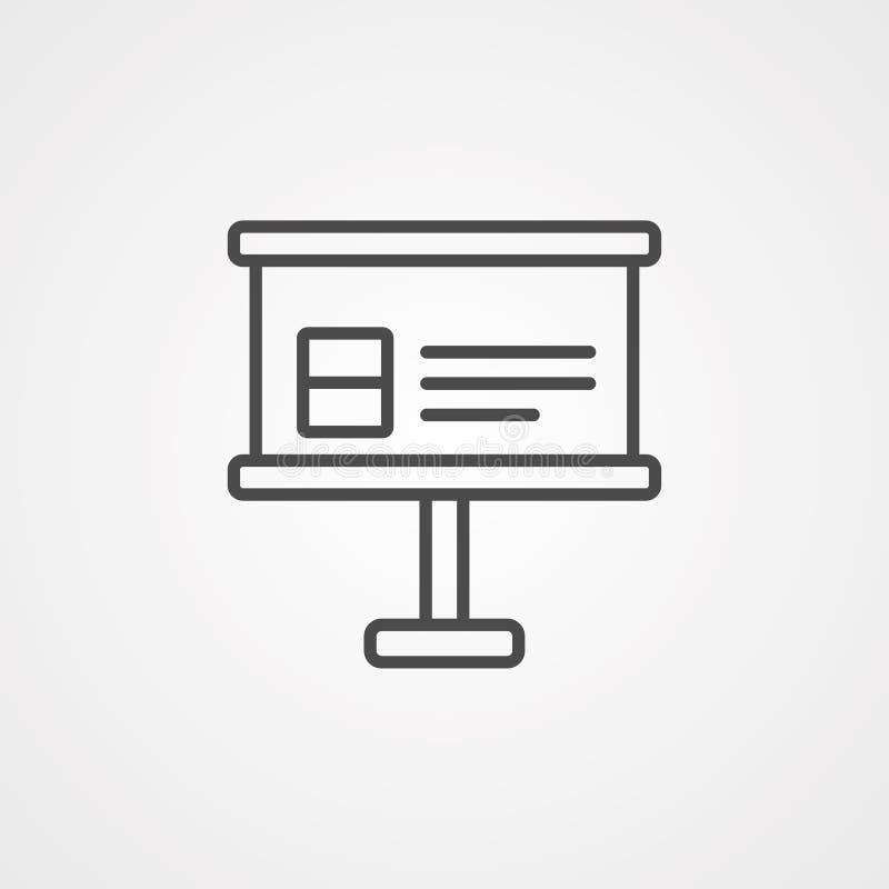 Símbolo de la muestra del icono del vector de la presentación libre illustration