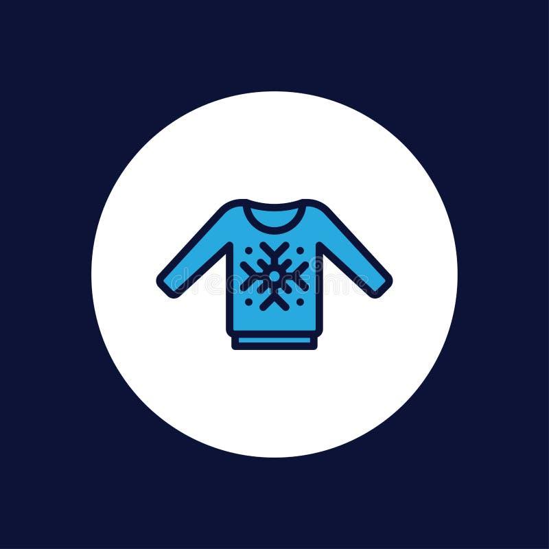 Símbolo de la muestra del icono del vector del suéter stock de ilustración