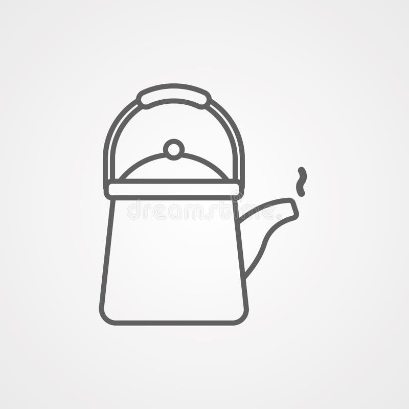 Símbolo de la muestra del icono del vector de la tetera libre illustration