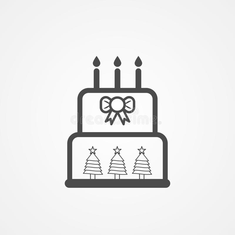 Símbolo de la muestra del icono del vector de la torta de la Navidad libre illustration
