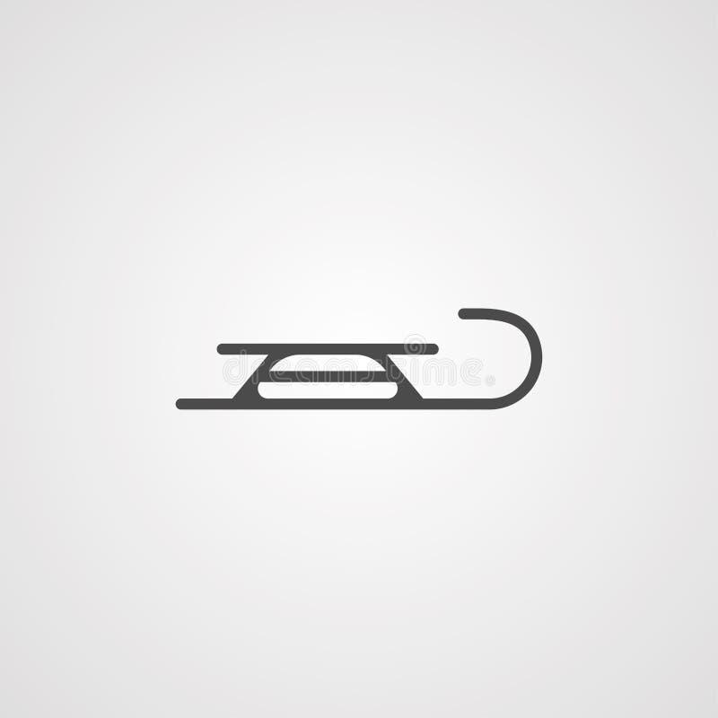 Símbolo de la muestra del icono del vector del trineo ilustración del vector