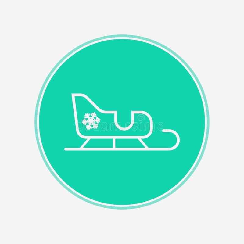Símbolo de la muestra del icono del vector del trineo libre illustration