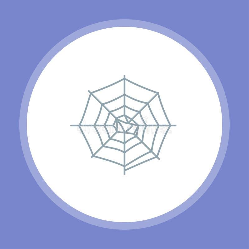 Símbolo de la muestra del icono del vector del web de araña stock de ilustración