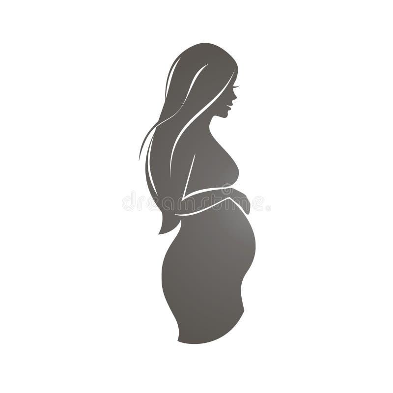 Símbolo de la mujer embarazada imagen de archivo libre de regalías