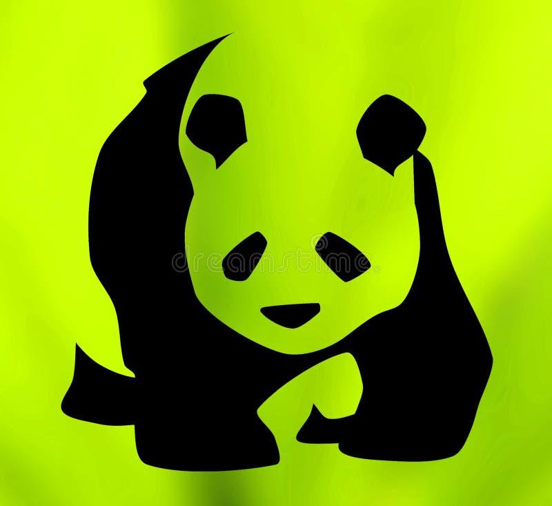 Símbolo de la panda gigante stock de ilustración