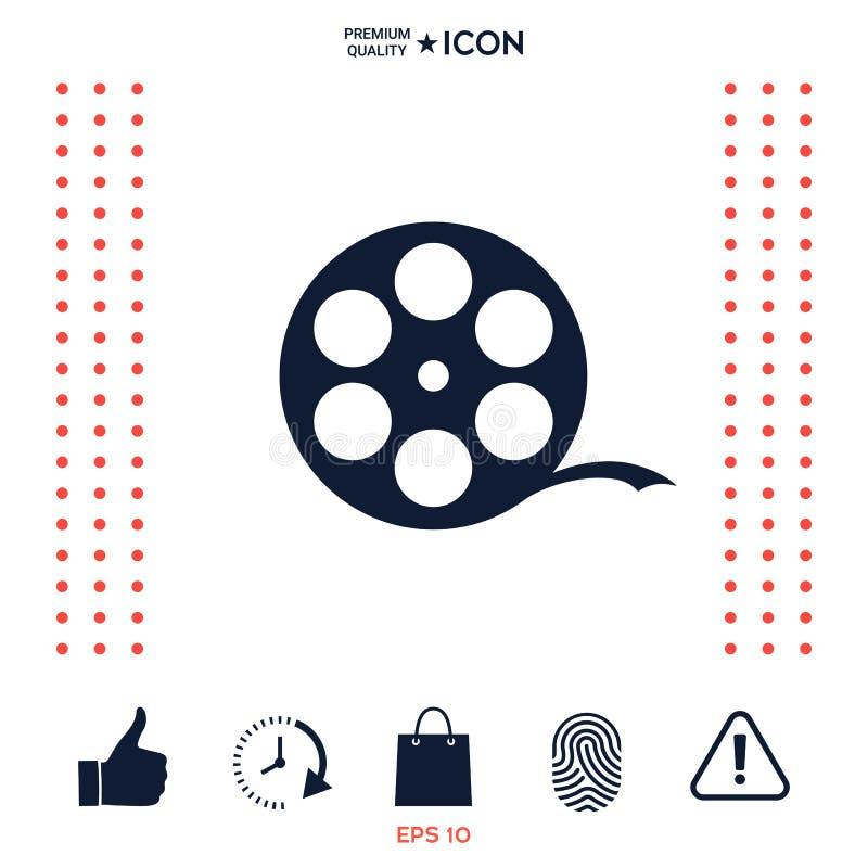 Símbolo de la película del carrete stock de ilustración