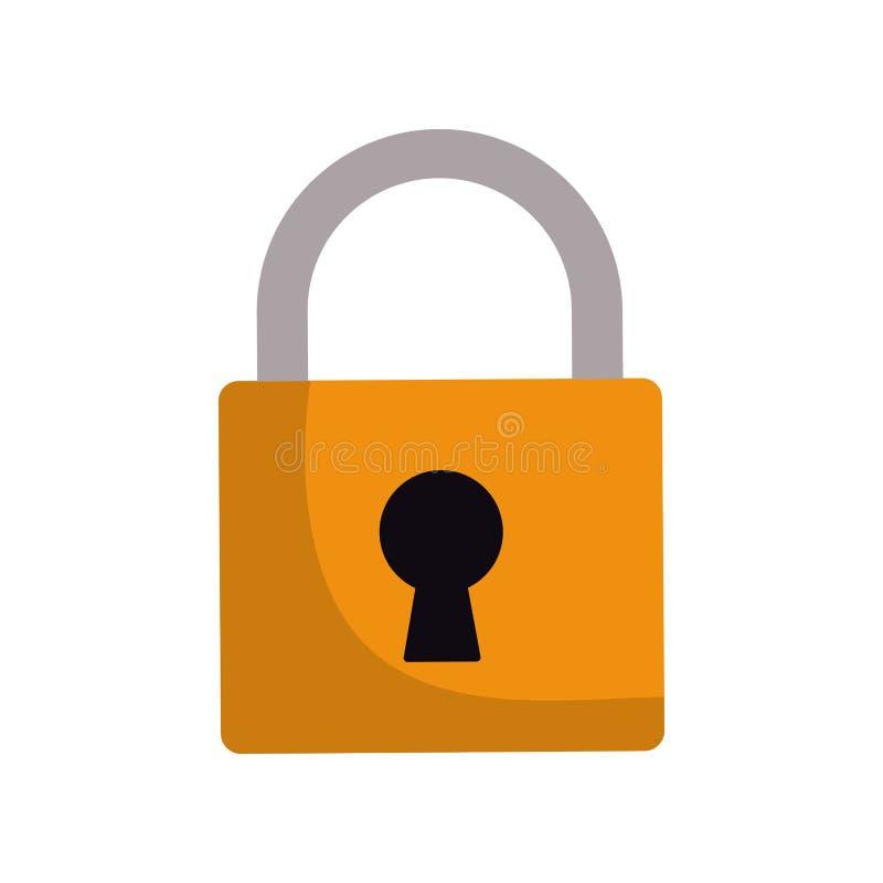 símbolo de la protección de seguridad de la cerradura del candado ilustración del vector