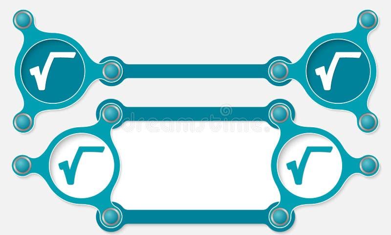 símbolo de la raíz stock de ilustración